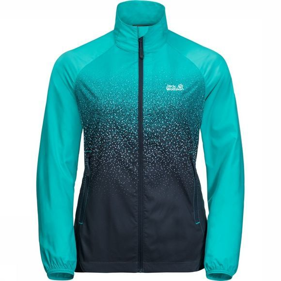 Jack Wolfskin Windstopper Starry Night Turkoois/Zwart