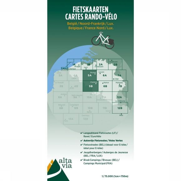ALTA VIA Oost-Vlaanderen & Henegouwen Cycle Map 2017