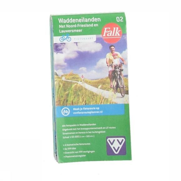 Waddeneilanden 2 carte cycliste