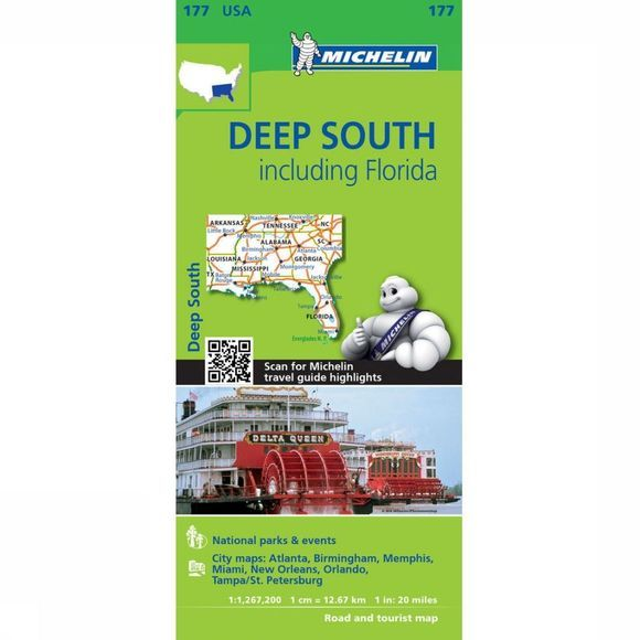 Michelin Reisgids Deep South incl. Florida 177 mich 2018