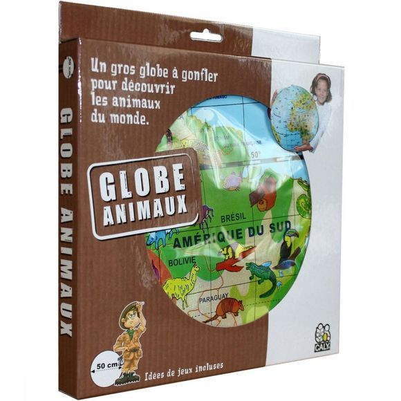 Caly Toys Reisboek Globe gonflable 50 animaux maxi globe caly toys 2015