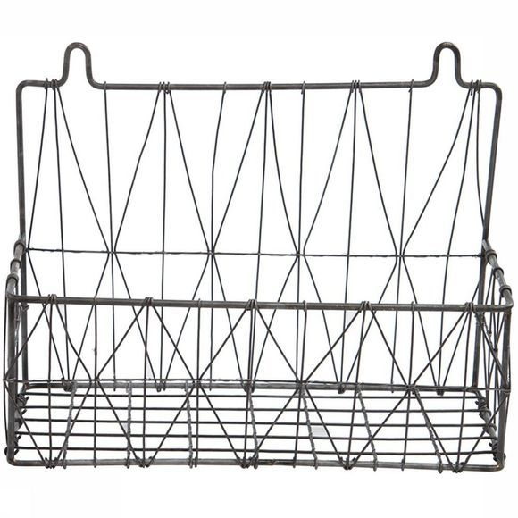 Yaya Home Mand Wire Basket Hanging Triangle 34X14X26 Zwart