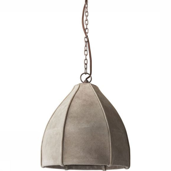 Yaya Home Lamp Suede Pendant Light Gebroken Wit
