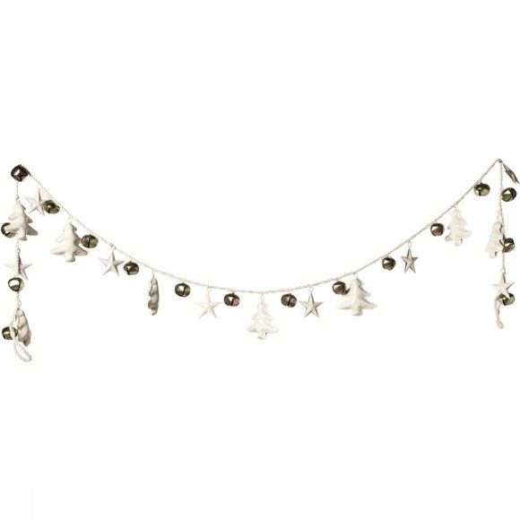 Yaya Home Accessoire Garland Multi Tree Star And Bells 180cm Wit