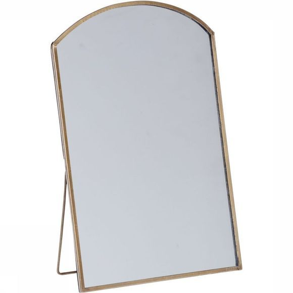 Yaya Home Accessoires Standing Curved Mirror 13X20,5Cm Geen kleur