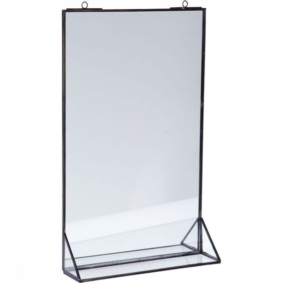 Accessoires Hanging Mirror With Shelf 25X5,5X41Cm