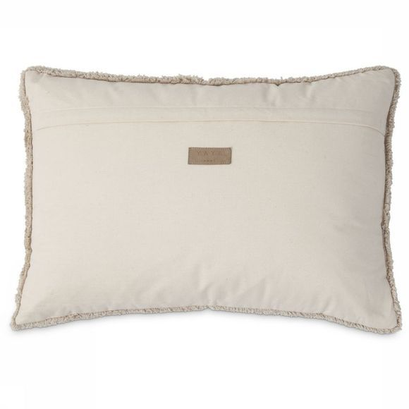 Yaya Home Kussen Diamond Pattern Cushion Zandbruin/Middenroze