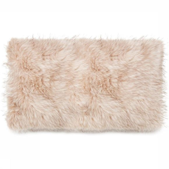 Yaya Home Kussen Faux Fur Cushion Rectangle Ecru