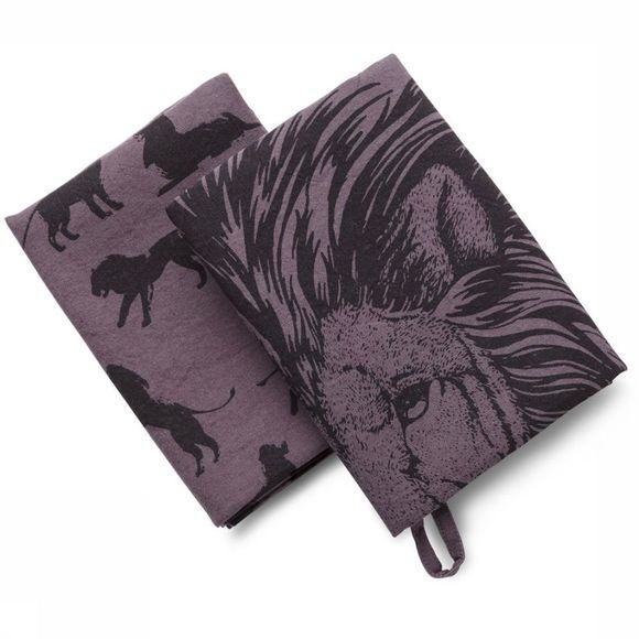 Handdoek Pack of 2 Lion Print