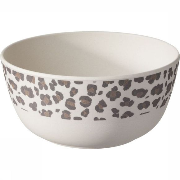 Yaya Home Servies Bamboo Bowl With Jungle Print Zwart