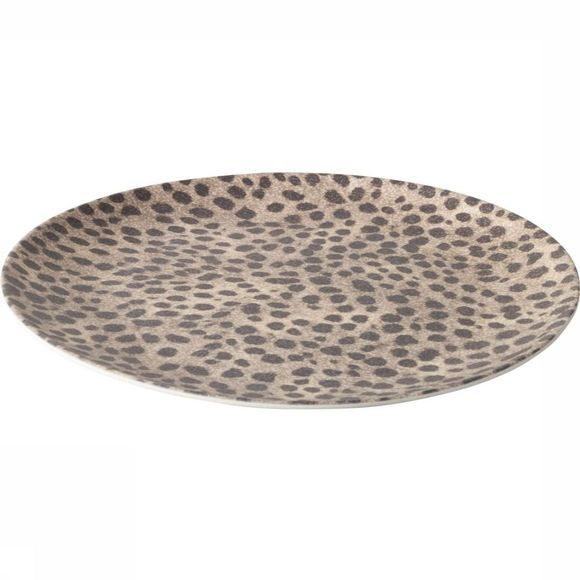 Yaya Home Servies Bamboo Breakfast Plate With Jungle Print Zwart