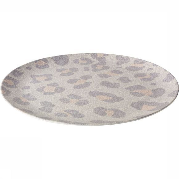 Yaya Home Servies Bamboo Dinner Plate With Jungle Print Middengrijs