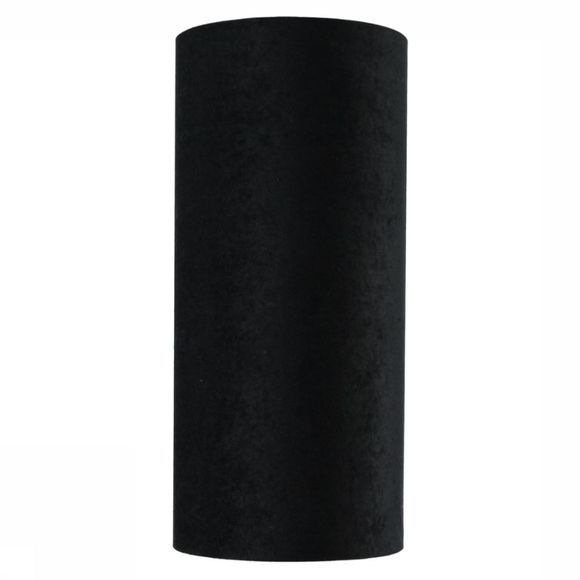 Lamp Shade Cylinder Velours 20x20x44cm