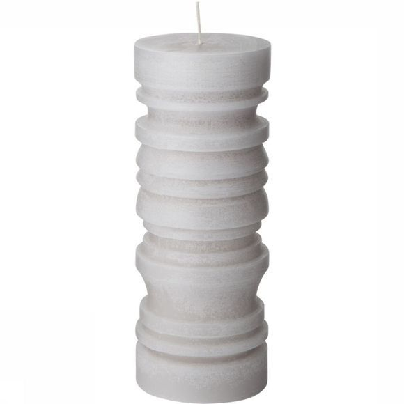 Kaars Pillar Candle With Ridges