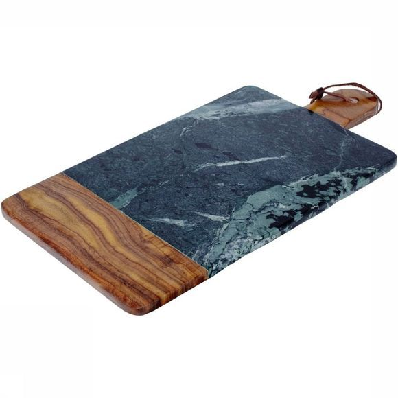 Accessoires Green Trencher Marble And Sheesham Wood 38X30Cm