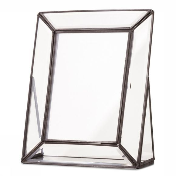 Yaya Home Photoframe Faceted Glass 13 x 18 Zwart