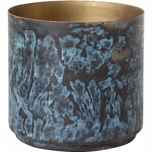 Yaya Home Corroded Pot large Blauw