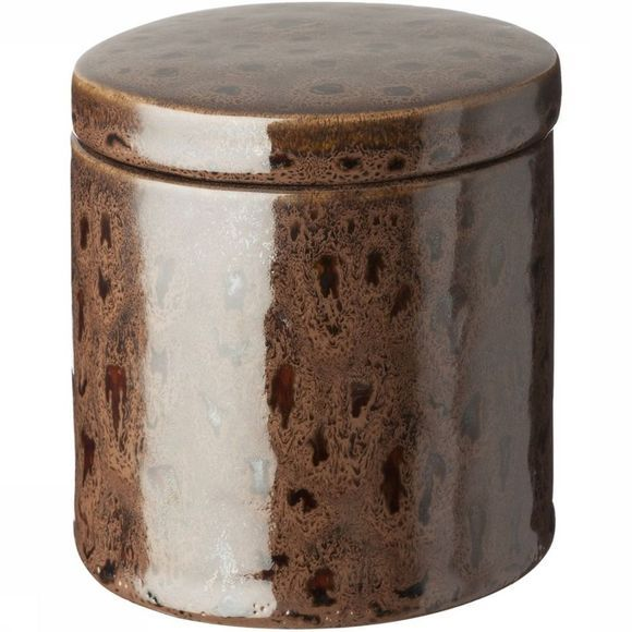 Yaya Home Opbergen Tall Ceramic Storage Pot With Lid - Small Middenbruin