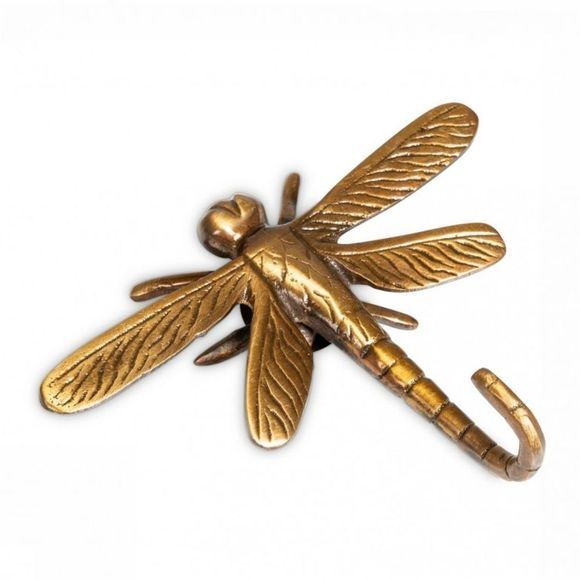 Yaya Home Kleine Opberger Dragonfly Wall Hook Brons