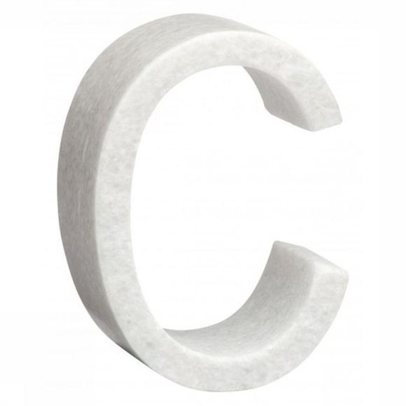 Yaya Home Decoratie  Marble Letter C Wit