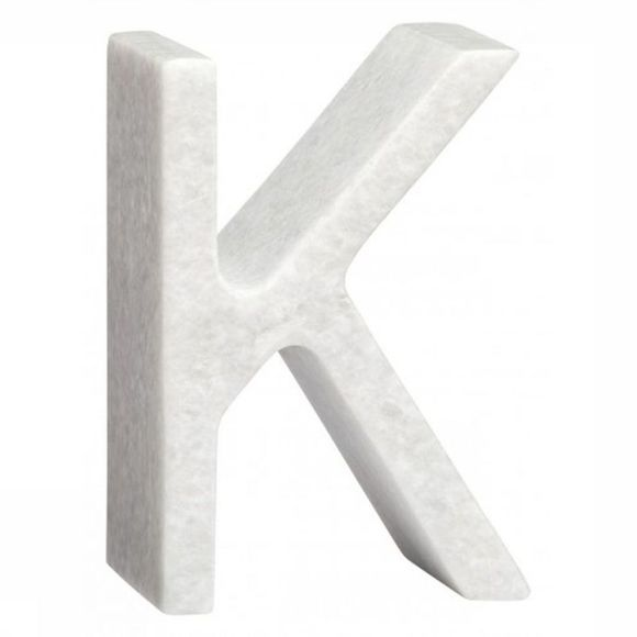 Yaya Home Decoratie  Marble Letter K Wit