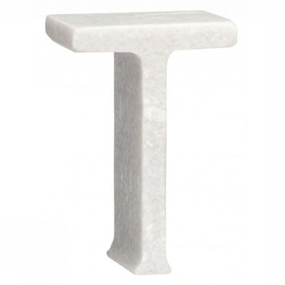 Yaya Home Decoratie  Marble Letter T Wit