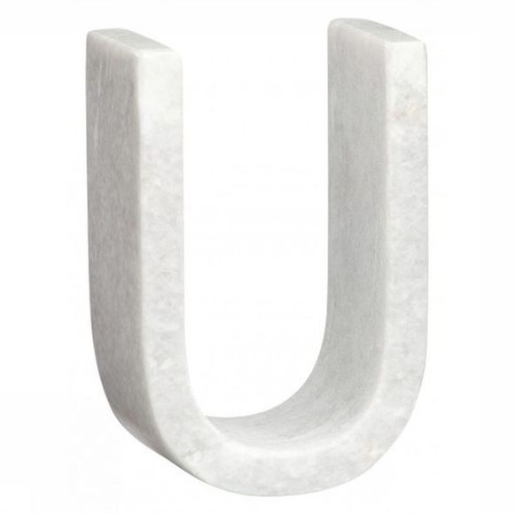Yaya Home Decoratie  Marble Letter U Wit