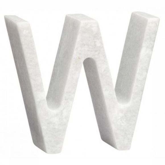 Yaya Home Decoratie  Marble Letter W Wit