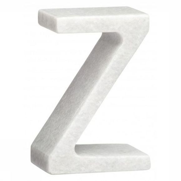 Yaya Home Decoratie  Marble Letter Z Wit