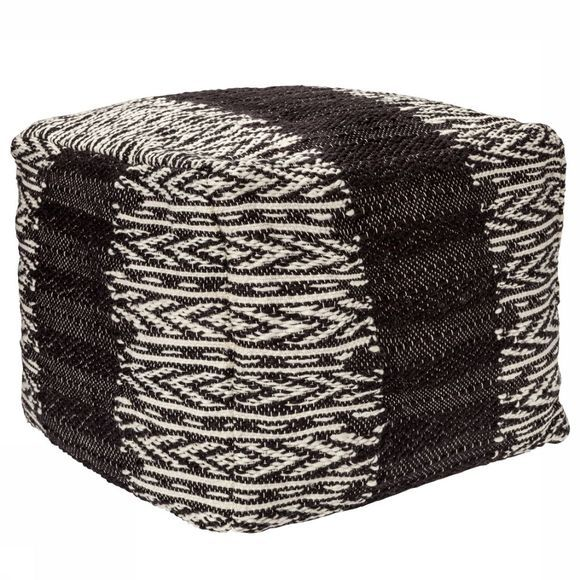 Knitted Pouf With Pattern
