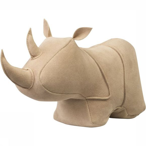 Yaya Home Decoratie Suede Look Rhino - Small Middenbruin