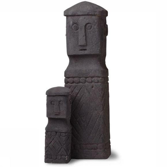 Yaya Home Decoratie Stone Man Black Large Zwart
