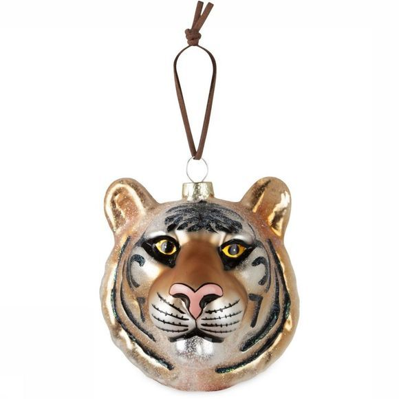 Yaya Home Kerstcollectie Christmas Animal Hanger Tiger Oranje