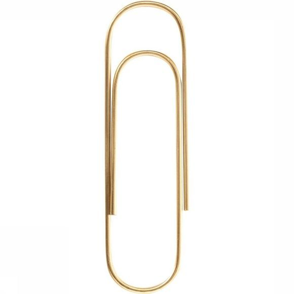 Brass Big Paperclip