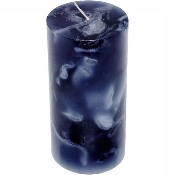 Kaarsen Marble Candle Tubular Middle 100X200Mm