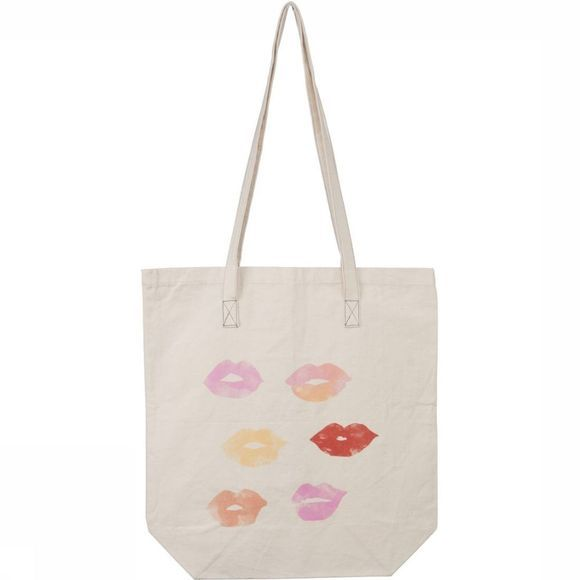 Yaya Cadeau Vrouwen Tote Bag Lips NATUREL