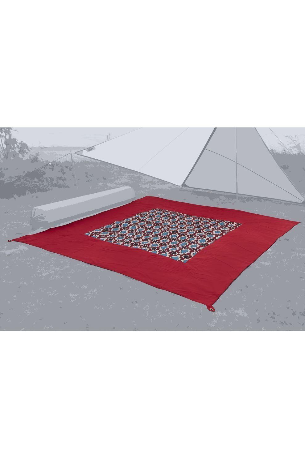 Bent Grondzeil Carpet Oriental - Rood/ Gemengd