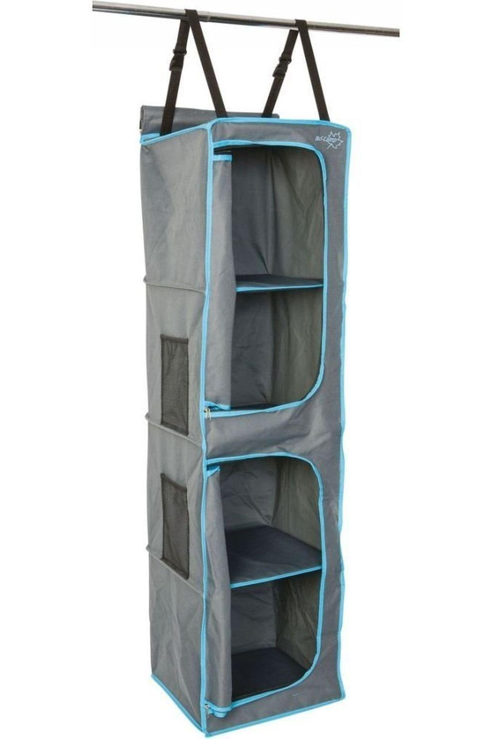 Bo-Camp Accessoire Organizer 4-Vaks 2 Deurtjes 35X35X131 Cm - Grijs/Blauw