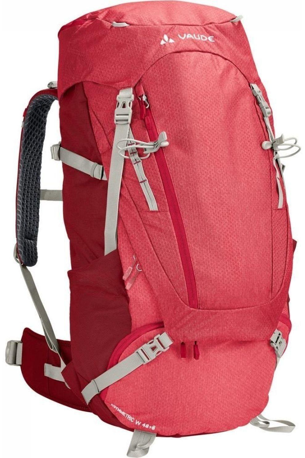 VAUDE Tourpack Asymmetric 48+8 - Rood