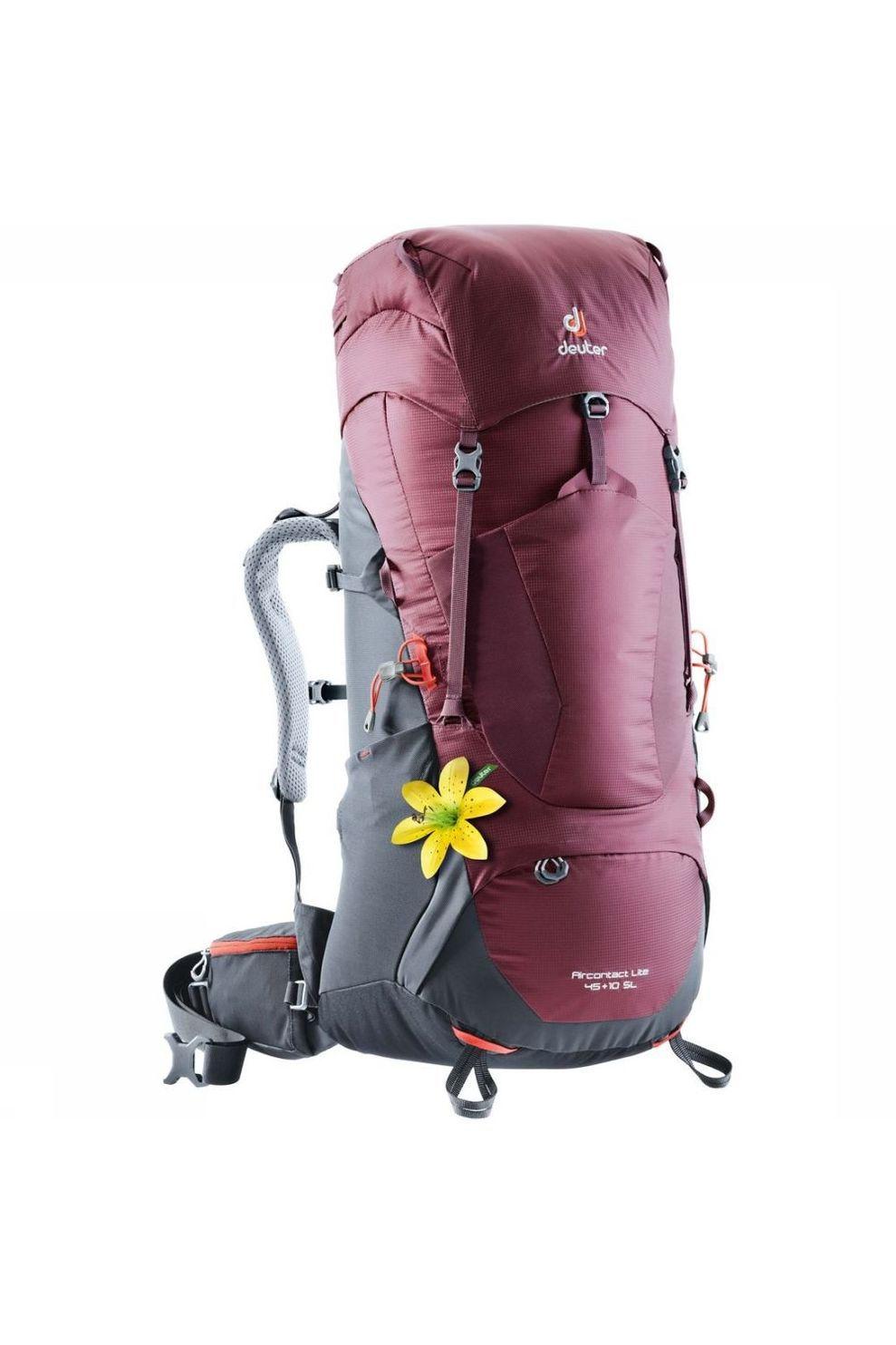 Deuter Tourpack ACT Lite 45+10 SL voor dames - Blauw / Kastanjebruin