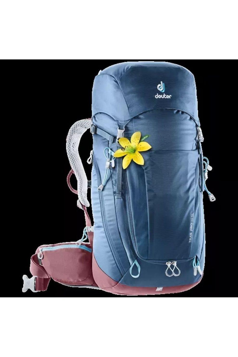 Deuter Tourpack Trail Pro 34 voor dames - Blauw/Rood