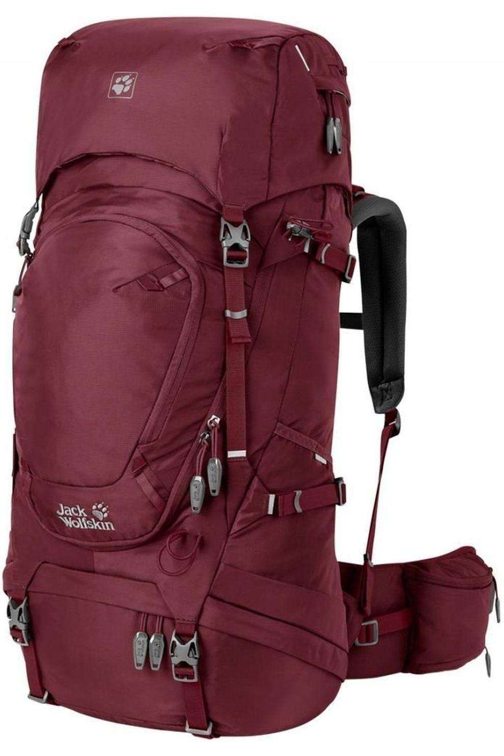 Jack Wolfskin Tourpack Highland Trail 45 voor dames - Blauw / Kastanjebruin