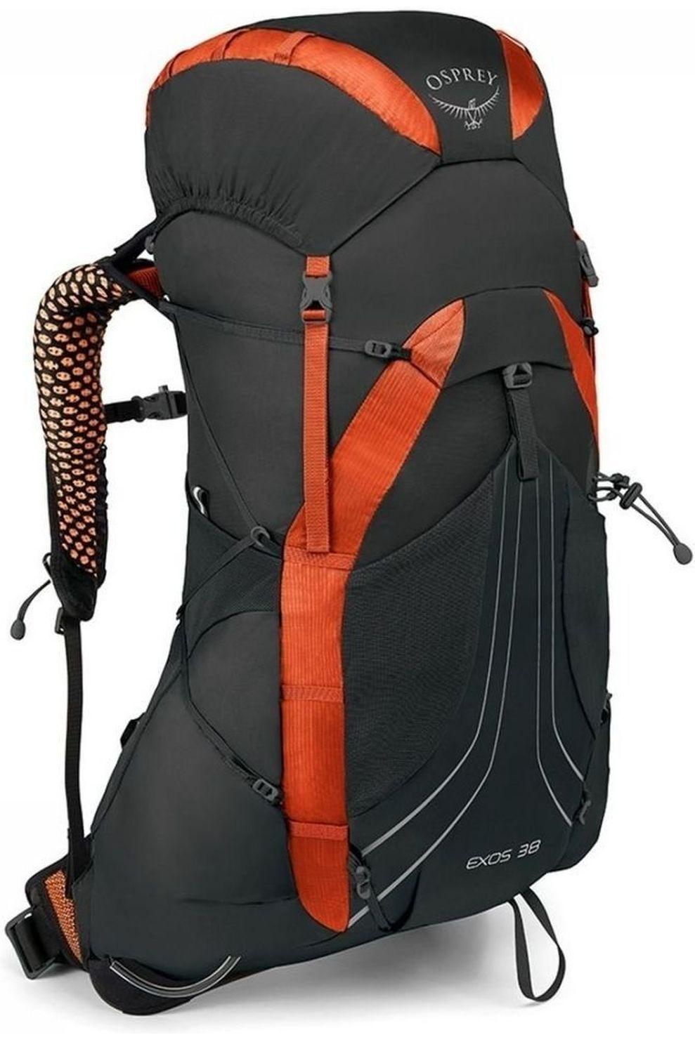 Osprey Tourpack Exos 38 voor heren - Zwart/Rood - Maat: M