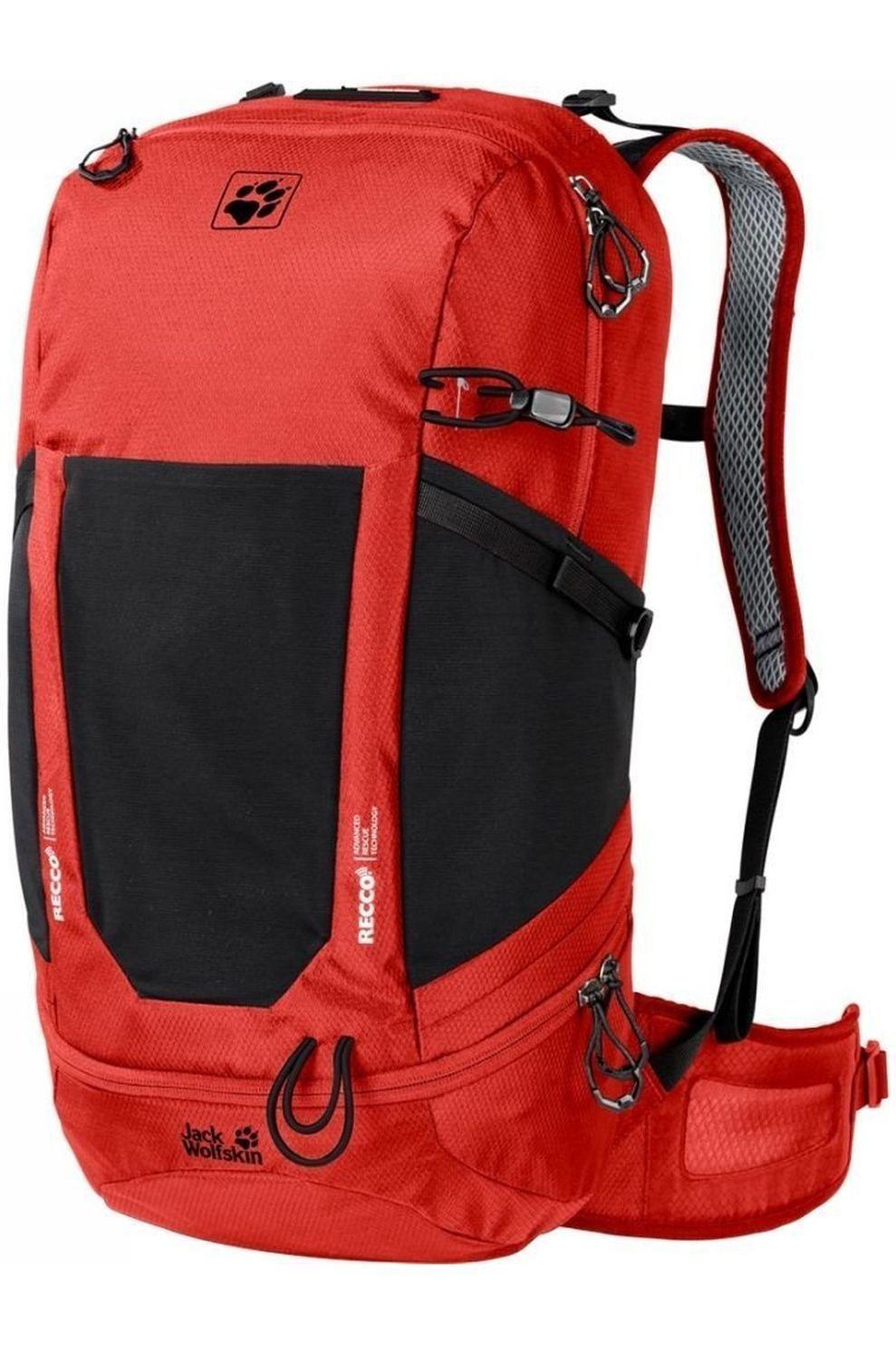 Jack Wolfskin Tourpack Kingston 30 Pack Recco voor heren - Rood/Zwart