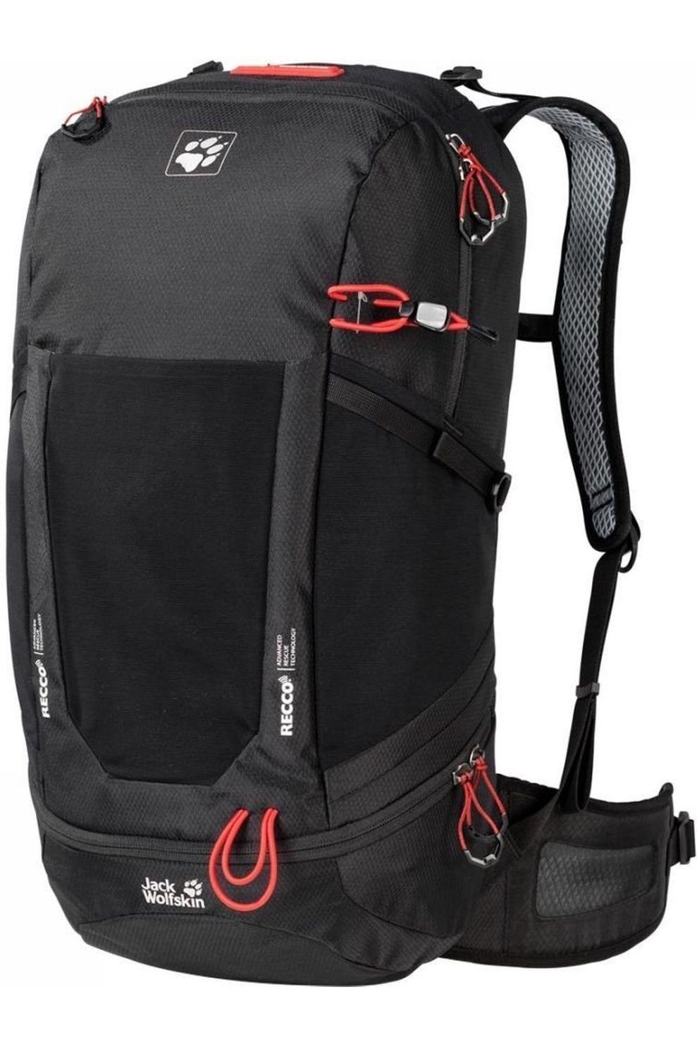 Jack Wolfskin Tourpack Kingston 30 Pack Recco voor heren - Zwart