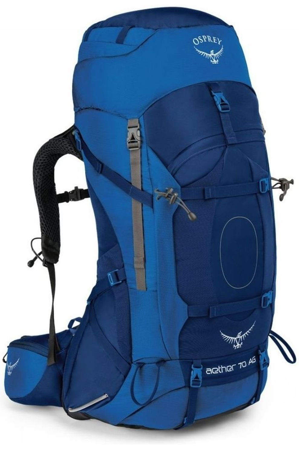 Osprey Rugzak Aether AG 70 voor heren - Blauw - Maten: M, L