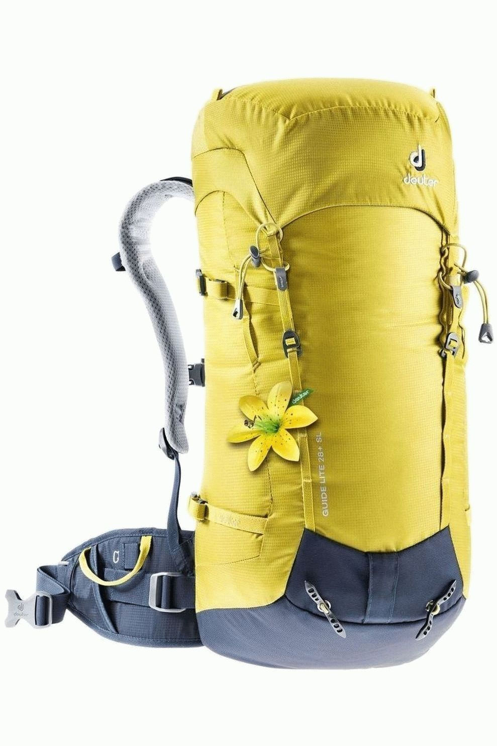Deuter Alpinepack Guide Lite 28+ Sl voor dames - Geel/Blauw