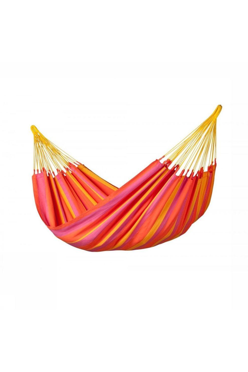 La Siesta Hangmat Sonrisa Single - Oranje/Rood