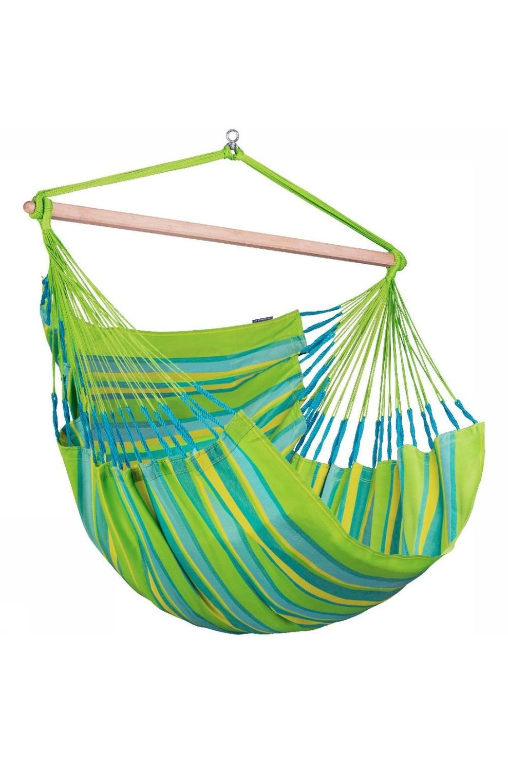La Siesta Hangmat Domingo Lounger Chair - Limoen Groen/Blauw
