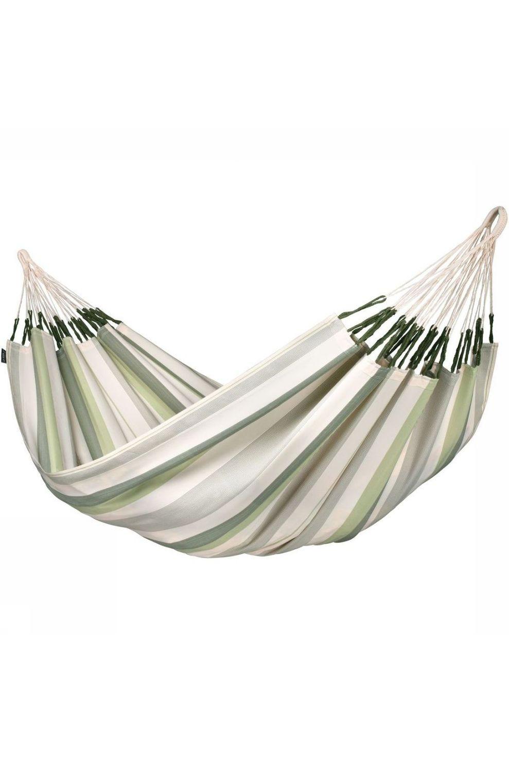 La Siesta Hangmat Brisa Double - Groen/Wit